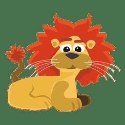 Desenho de leão engraçado