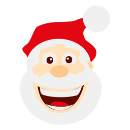 Engraçado loughing santa emoticon