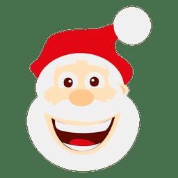 Funny loughing santa emoticon