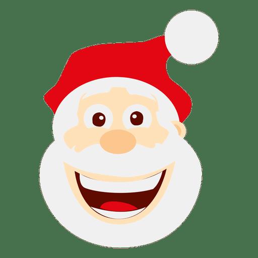 Engraçado loughing santa emoticon Transparent PNG