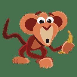 Dibujos animados mono divertido