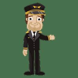 Dibujos animados piloto divertido