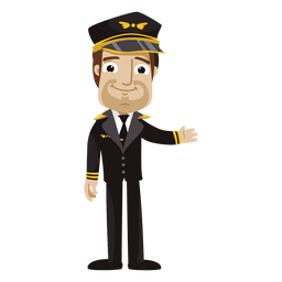 Lustige Pilotenkarikatur