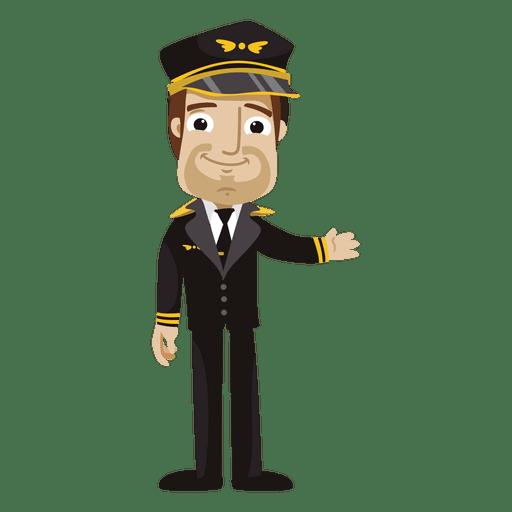 Dibujos animados piloto divertido Transparent PNG