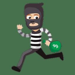 Desenho animado engraçado da profissão de ladrão