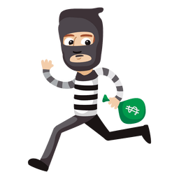 Funny robber profession cartoon