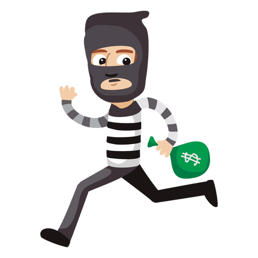Funny robber profession cartoon Transparent PNG