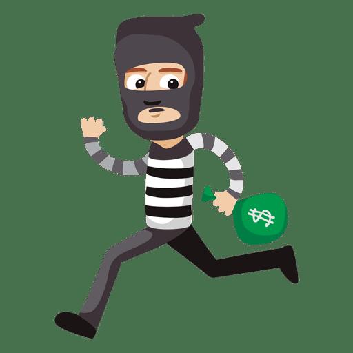 Funny robber profession cartoon