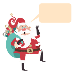 Funny santa claus bubble