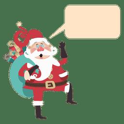 Funny santa claus bubble