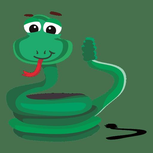 personaje de dibujos animados divertido de la serpiente