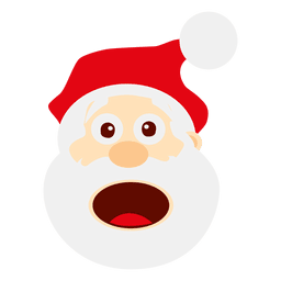 Funny surprised santa emoticon