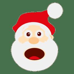 Funny surprised santa emoticon