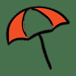 Ícone de viagem guarda-chuva engraçado