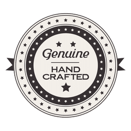 Genuine hand crafted vintage label