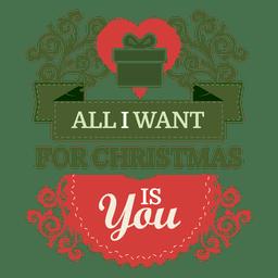 Etiqueta de regalo de navidad