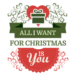 Giftbox ribbon christmas wish label