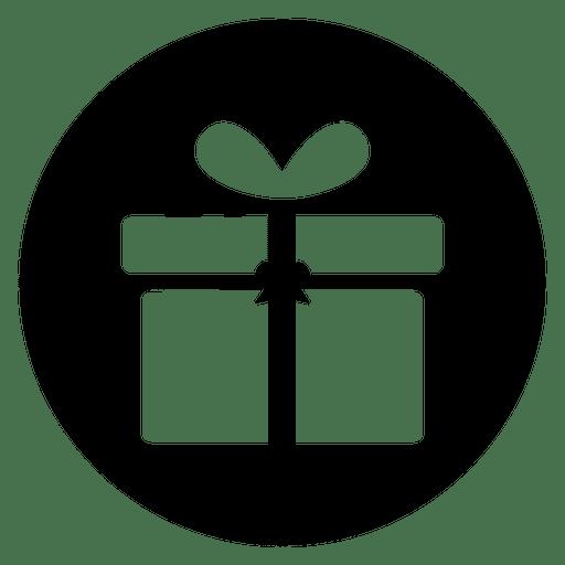 Icono de servicio redondo de caja de regalo - Descargar PNG/SVG transparente