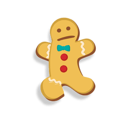Gingerbread man cookie jumping cartoon