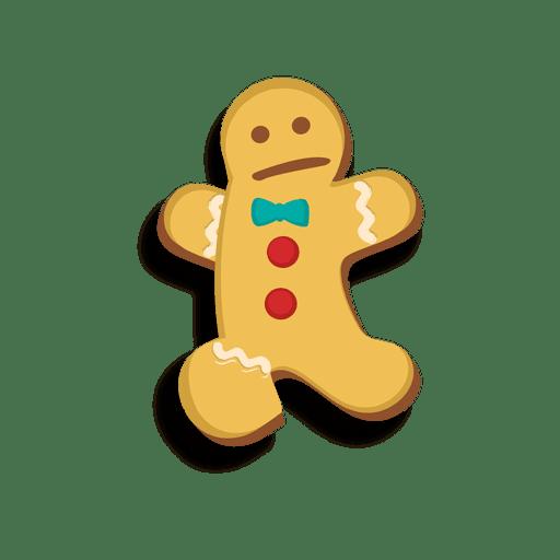 Gingerbread man cookie jumping cartoon Transparent PNG