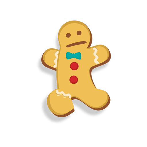 Gingerbread man cookie jumping cartoon