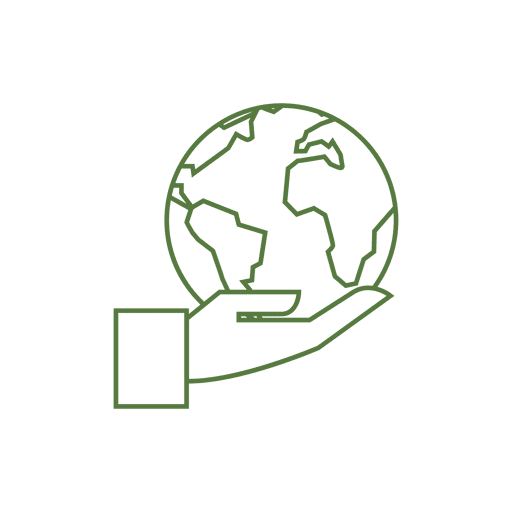 Globe hand line icon.svg png