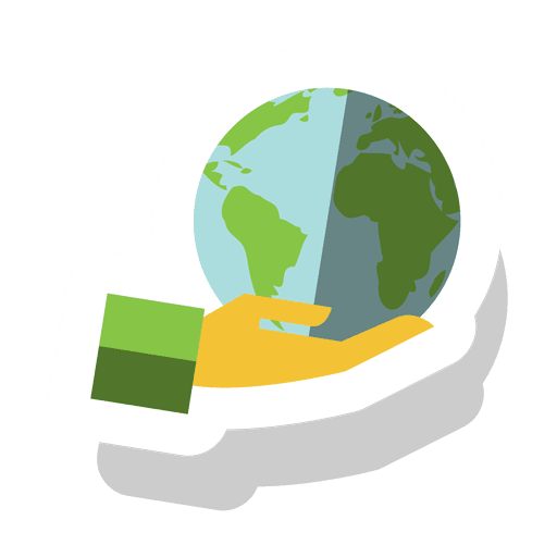 Globe hand sticker.svg Transparent PNG