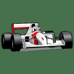 Fórmula brillante un coche