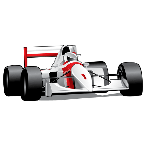 Glossy formula one car