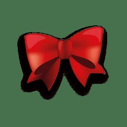 Lazo de cinta roja brillante