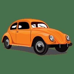 Coche escarabajo retro brillante