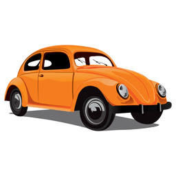Glänzendes Retro-Käferauto
