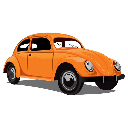Glossy retro beetle car