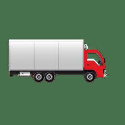 Glossy shipment truck
