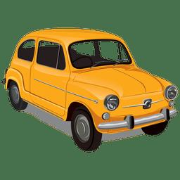 Carro vintageseicento brilhante