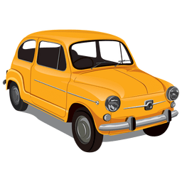 Glossy vintageseicento car