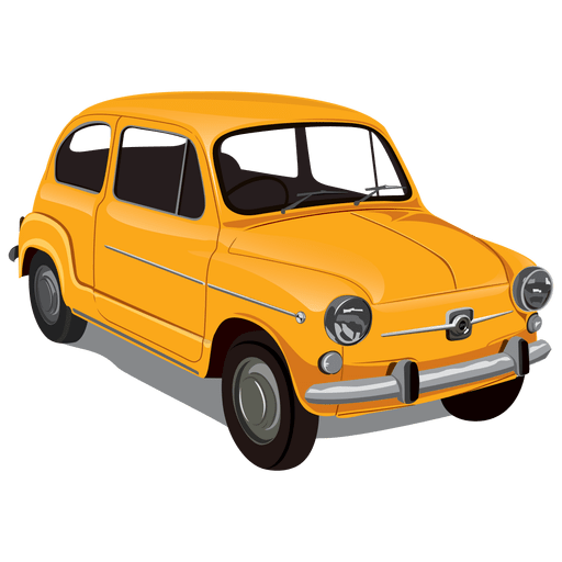 Glossy vintageseicento car Transparent PNG