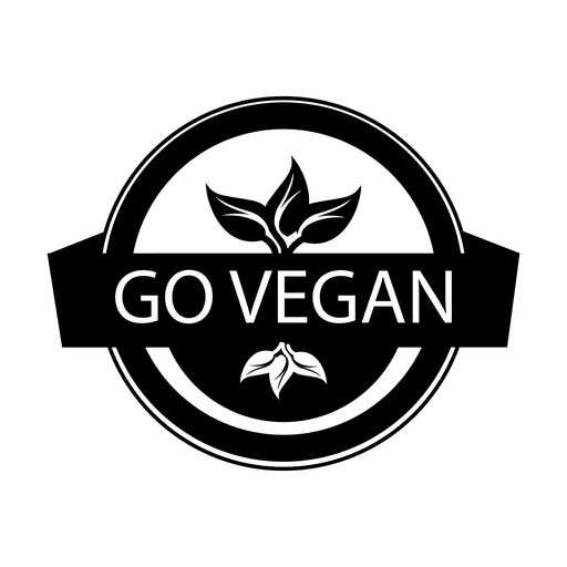 Go vegan label.svg Transparent PNG