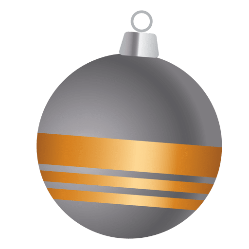 Bauble cinzento da fita do ouro Transparent PNG