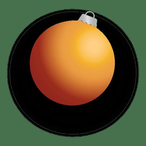 Golden 3d christmas bauble Transparent PNG