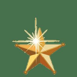 Estrela dourada do Natal 3d