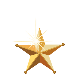 Golden 3d christmas star