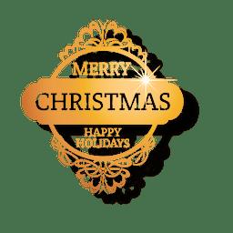 Goldenes verziertes Weihnachtsabzeichen
