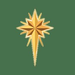 Crucifijo de navidad estrella dorada