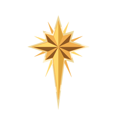 Golden star christmas crucifix