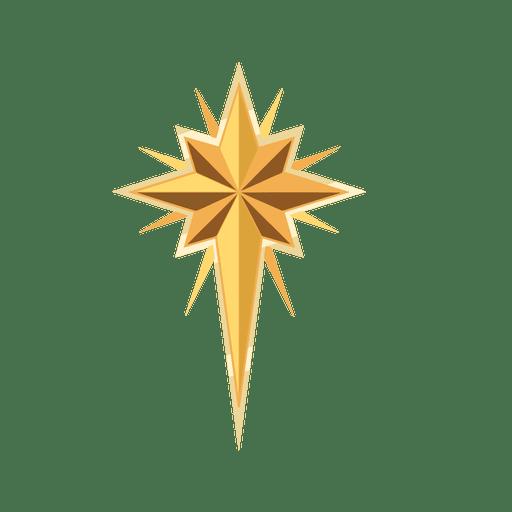 Golden star christmas crucifix - Transparent PNG & SVG vector