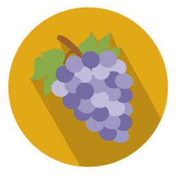Grapes flat circle icon