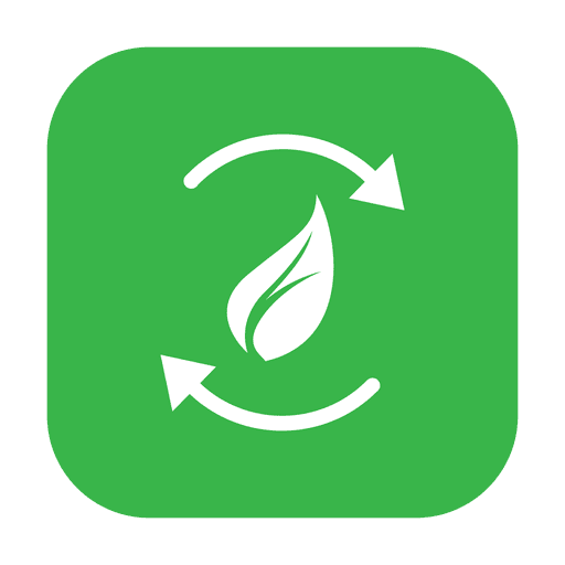 Green leaf recycle.svg Transparent PNG