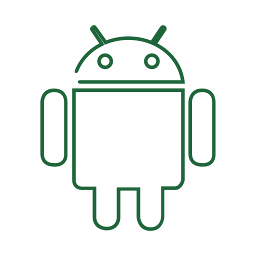 Green android line icon.svg