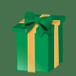 Caja de regalo de navidad verde